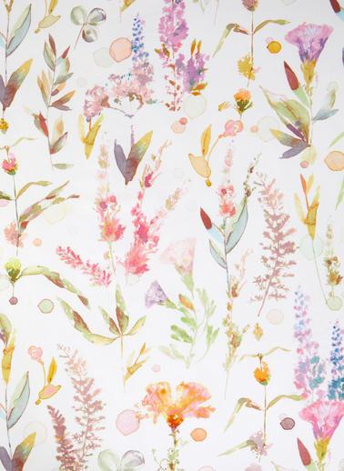 Marks & Spencer Çiçek Desenli Pamuk Saten Nevresim Takımı Bordo